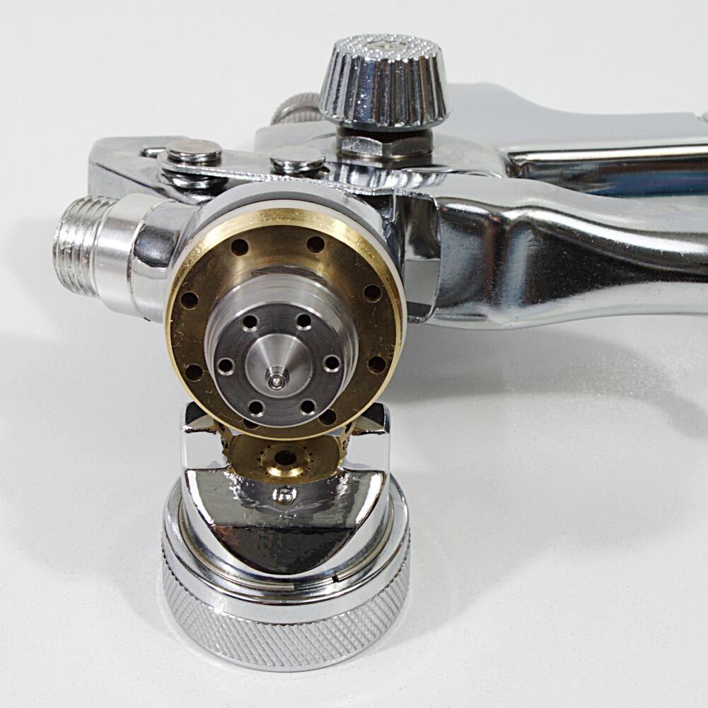 HVLP Spritzpistole Lackierpistole im Koffer Set mit Zubehör Düsen 1.7 / 1.4 / 0.8mm