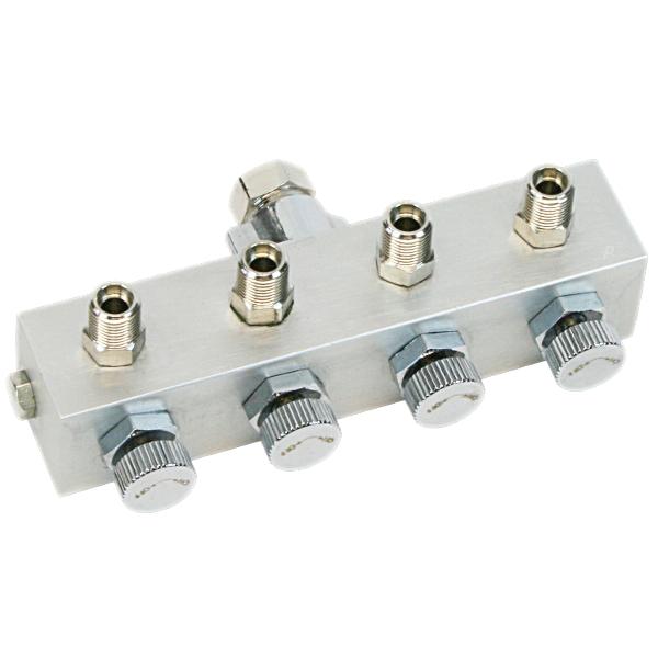 """Airbrush Luftverteiler BD13-4 Druckluftverteiler 4-fach 1/8"""" Zoll  Pistole Kompressor"""