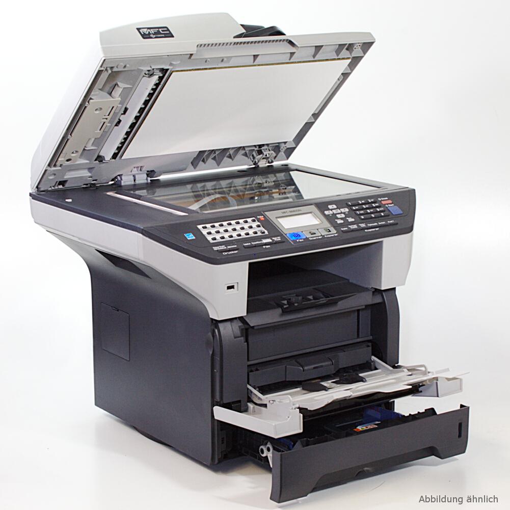 brother mfc 8880dn laserdrucker drucker kopierer scanner fax toner 99 ebay. Black Bedroom Furniture Sets. Home Design Ideas