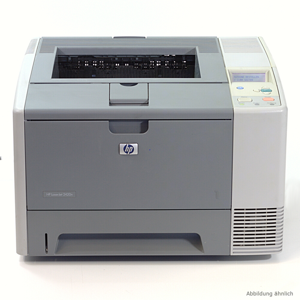 HP Drucker Laserjet 2420 Laserdrucker gebraucht unter 40.000 Seiten
