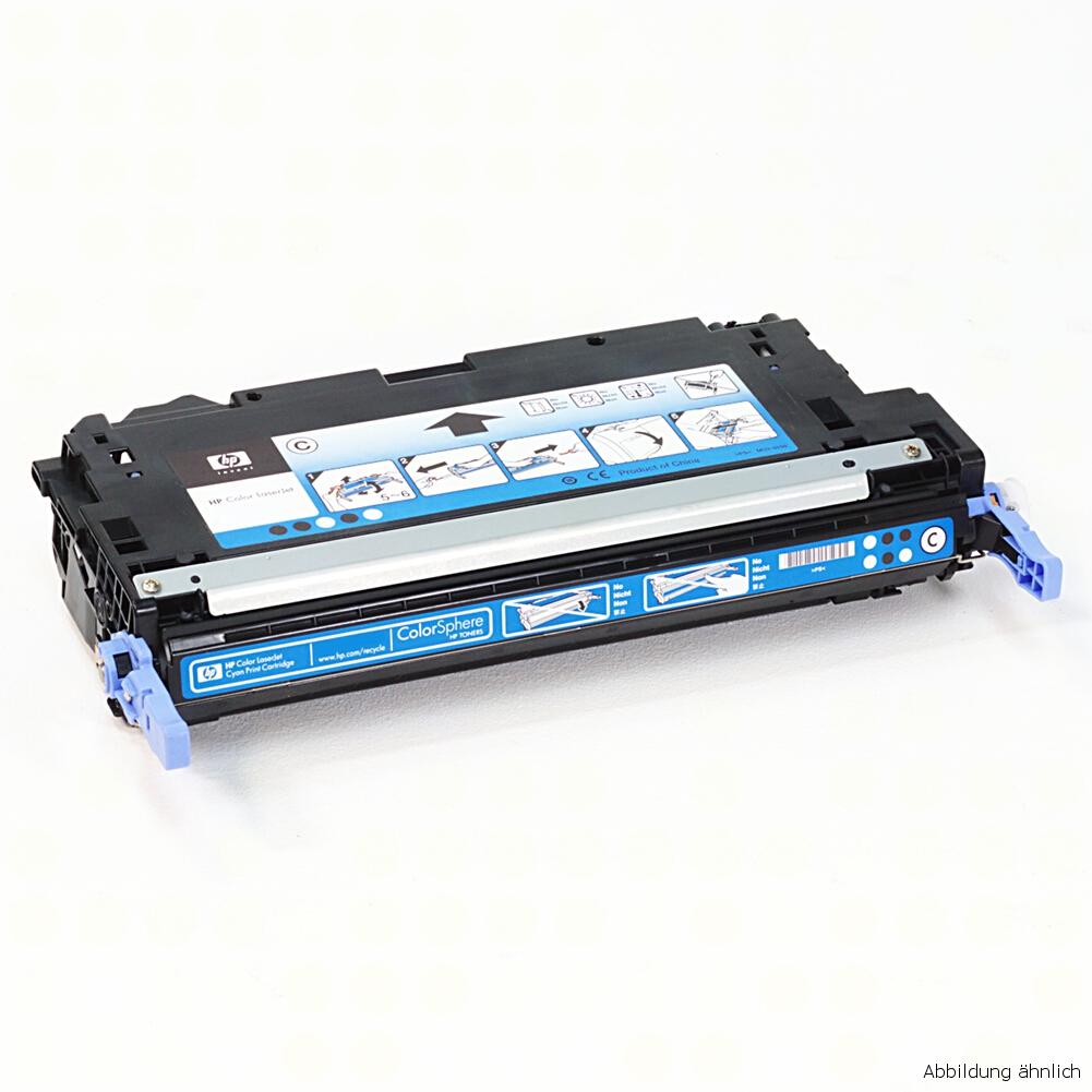 HP Original Toner 503A Cyan Blau Q7581A gebraucht / 90% Toner Füllstand