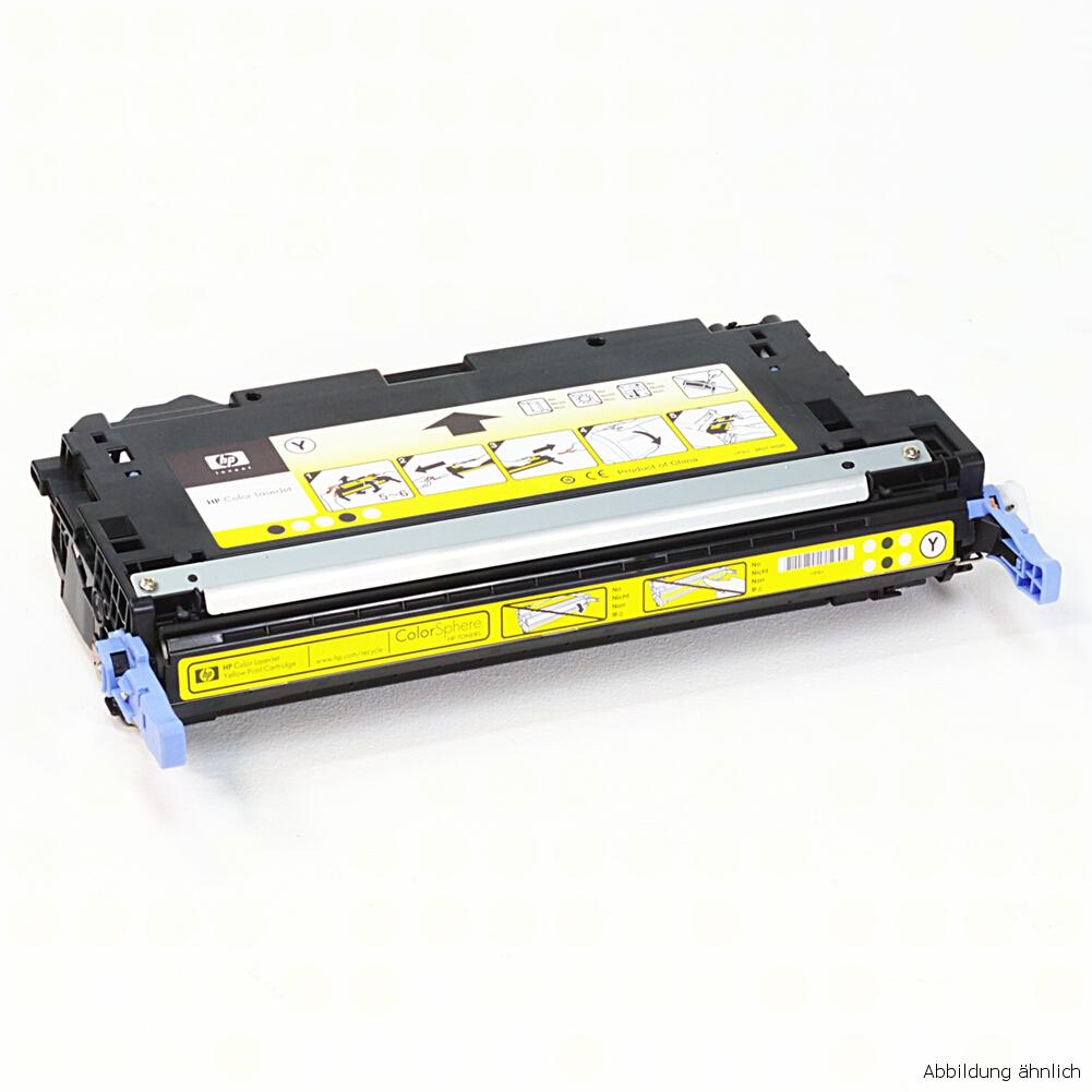 HP Original Toner 503A Yellow Gelb Q7582A gebraucht / 55% Toner Füllstand