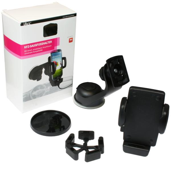iAcc Kfz-Set Auto Halterung Universale Kompatibiltät für iPhone, Samsung / 4029948013800