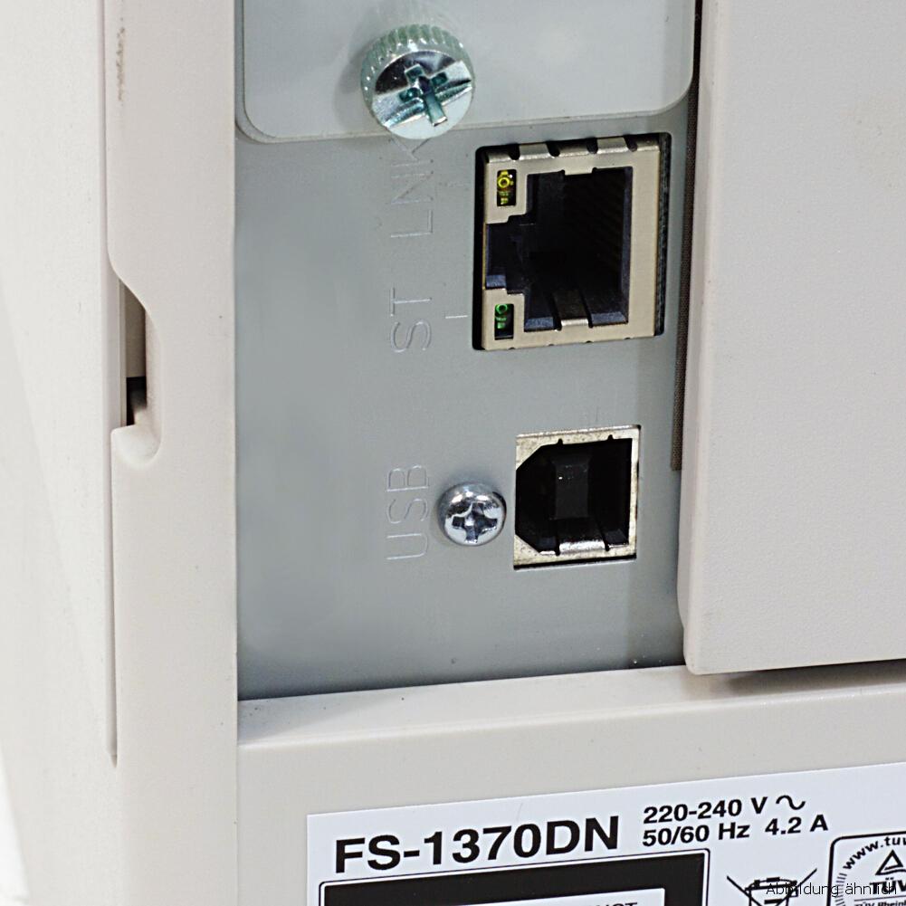 Kyocera FS-1370DN Drucker Laserdrucker gebraucht unter 100.000 Seiten