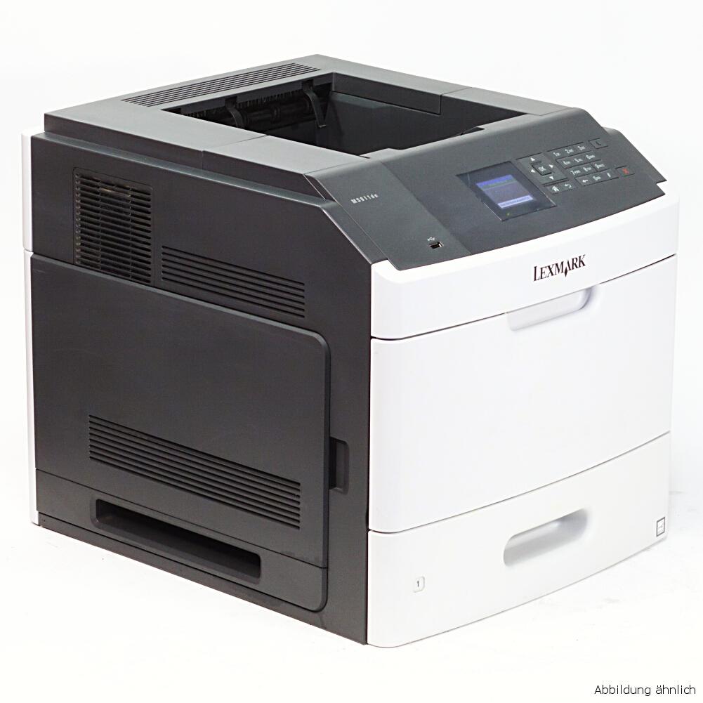 Lexmark MS810N Drucker Laserdrucker mit Netzwerk gebraucht unter 100.000 Seiten gedruckt