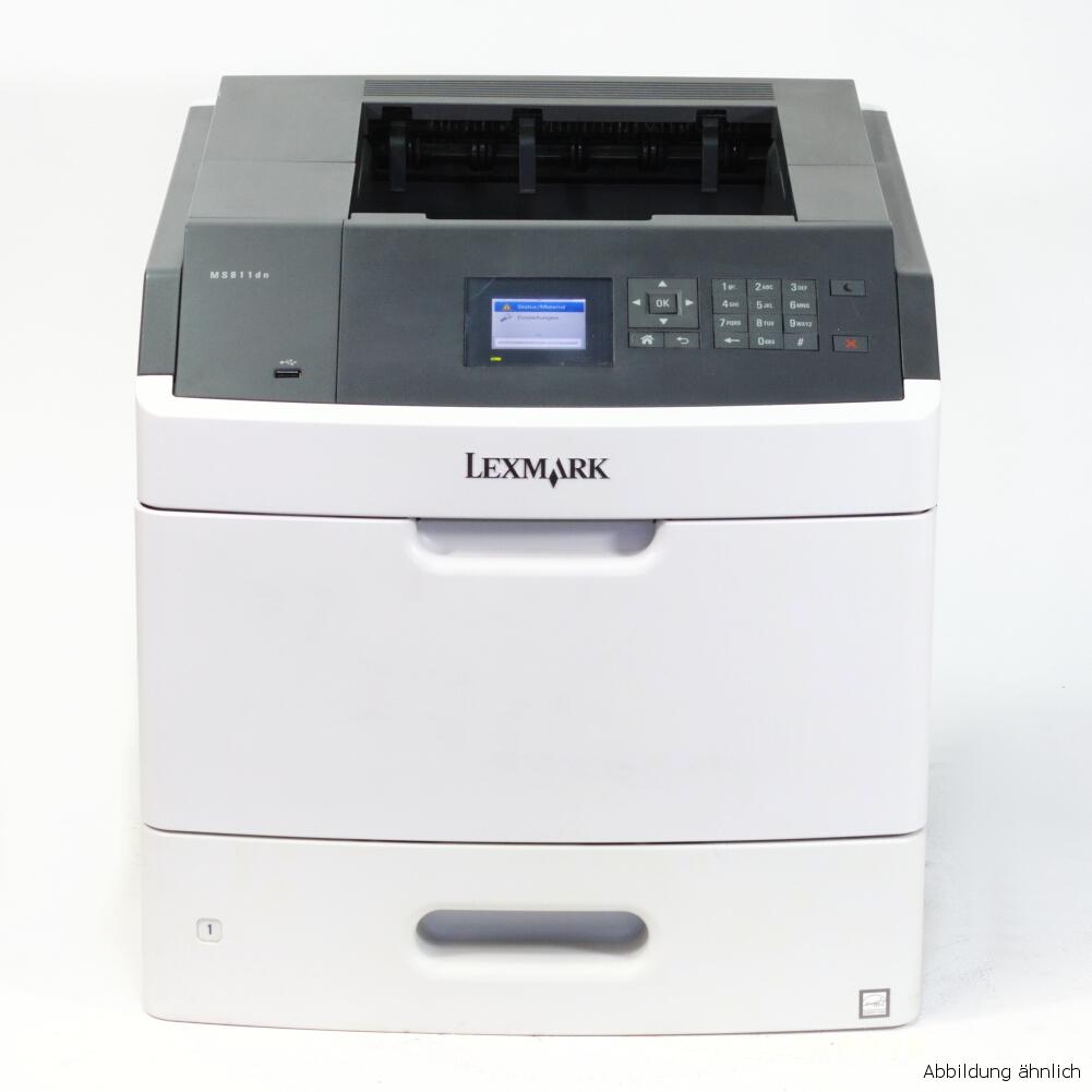 Lexmark MS812dn Drucker Nezwerk Duplex Laserdrucker gebraucht unter 150.000 Seiten gedruckt