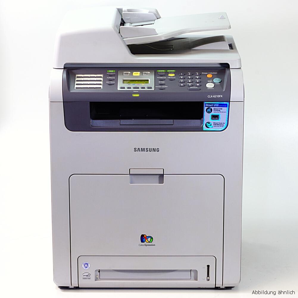 Samsung CLX-6210FX Drucker Laserdrucker Kopierer Scanner Fax  Color gebraucht /  11620 seiten