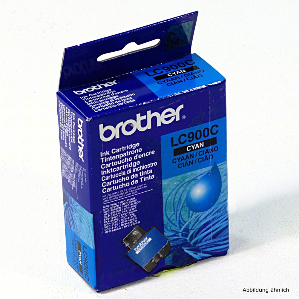 Brother Original Druckerpatrone LC900C Cyan Drucker DCP-310c MFC-5440cn MFC-5840c