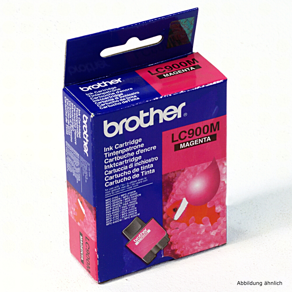 Brother Original Druckerpatrone LC900M Magenta Drucker DCP-310c MFC-5440cn MFC-5840c