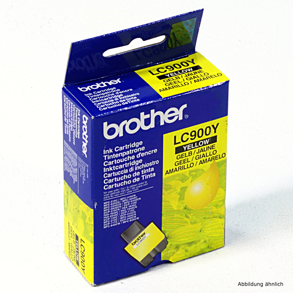 Brother Original Druckerpatrone LC900Y Yellow Drucker DCP-310c MFC-5440cn MFC-5840c