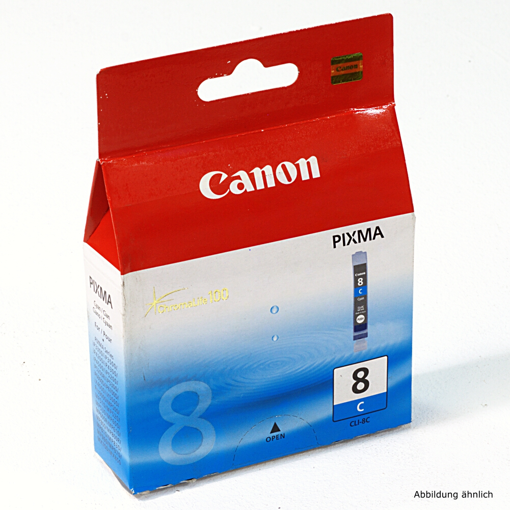 Canon Original Druckerpatrone CLI-8C Cyan Drucker iP3500 iP4500 MP510 MX700 MX850