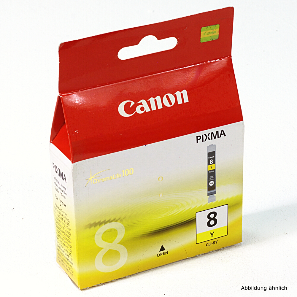 Canon Original Druckerpatrone CLI-8Y Yellow Drucker iP3500 iP4500 MP510 MX700 MX850
