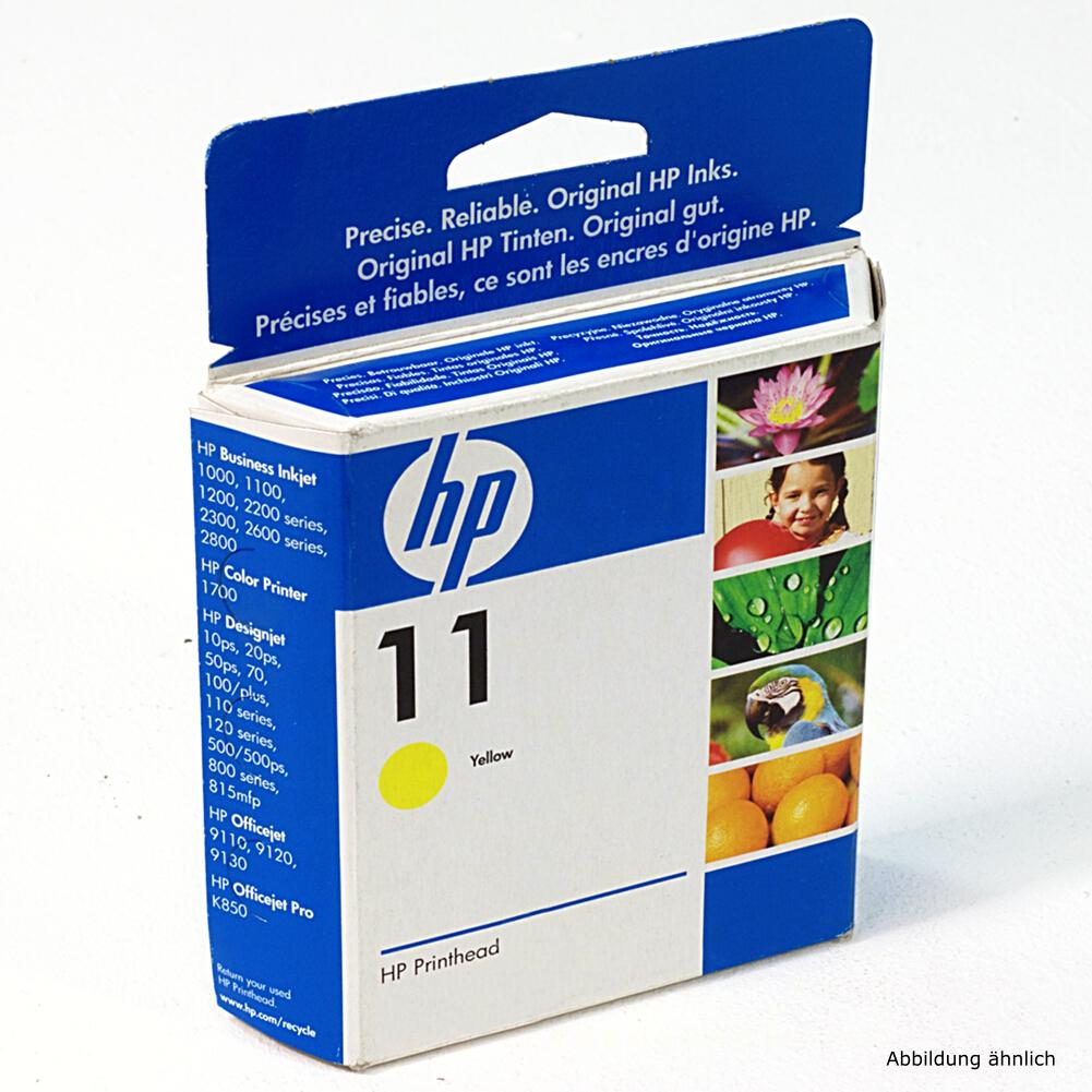 HP Original Druckkopf 11 Yellow C4813A Drucker 2000C 2600 815MFP 9130 10PS
