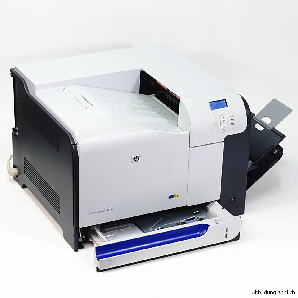 HP Drucker CP3525N Color Laserjet Netzwerk Laserdrucker gebraucht 125560 Seiten
