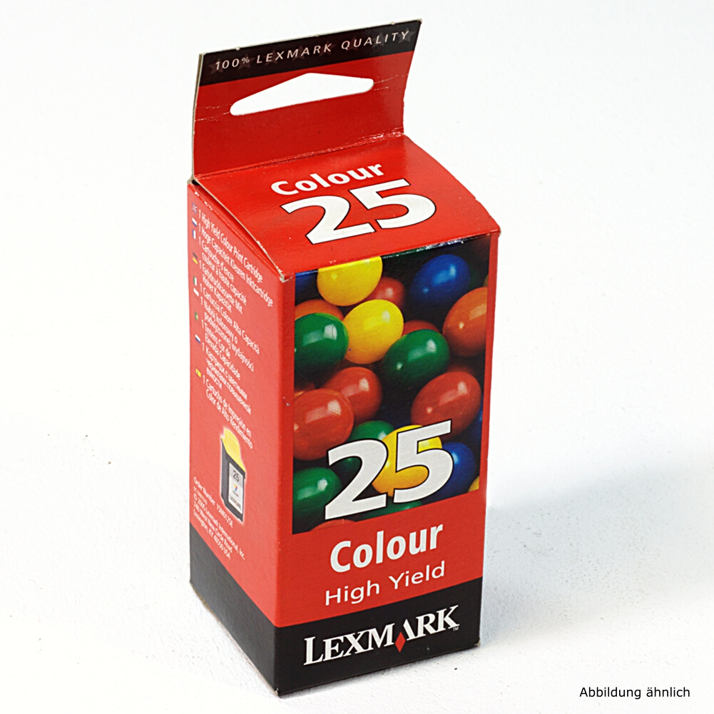 Lexmark Original Druckerpatrone 25 3in-1 Color 015M0125E für Z42, Z43, Z44, Z45